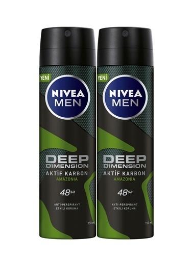 Nivea Invisible Black&White Original Power Erkek Deodorant Sprey 150 Ml  X 2 Renkli